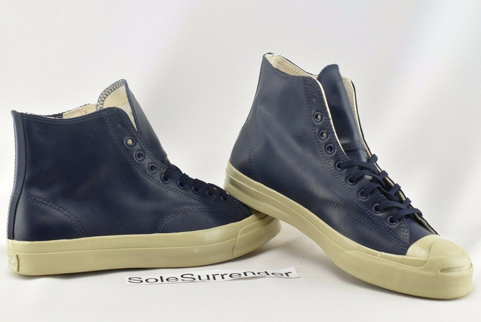 Converse Jack Purcell SIZE Signature Rubber High - SIZE Purcell 10 - 153582C Navy Beige Grau 74814d