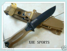 Gerber USA Strongarm Fixed Blade Survival Knife - Coyote Brown Serrated 01059