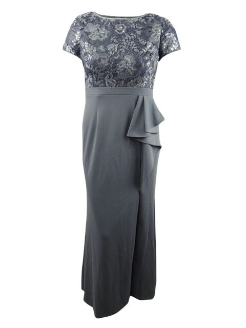 Wtoo Womens Ruffled Wrap Formal Evening Dress Gown BHFO 4543