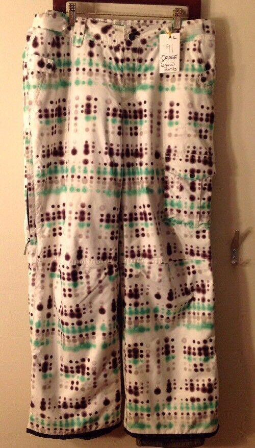 Men's Large Orage Snow  Pants  discount low price