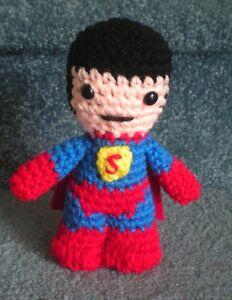 Amigurumi Doll Hands : Amigurumi Hand Crocheted Superhero Superman 6