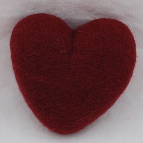"""Aprox 3.9 /"""" 100/% fieltro de lana Corazón-Aprox 10 Cm 8 Colores A Elegir"""