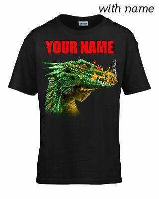 Personalized DRAGON HEAD Children // Kids Quality T-Shirt DTG YOUR NAME