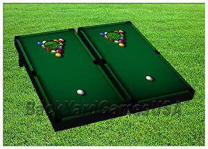 VINYL WRAPS Pool Billard Game Cornhole Boards DECALS BagToss Game - Pool table wraps