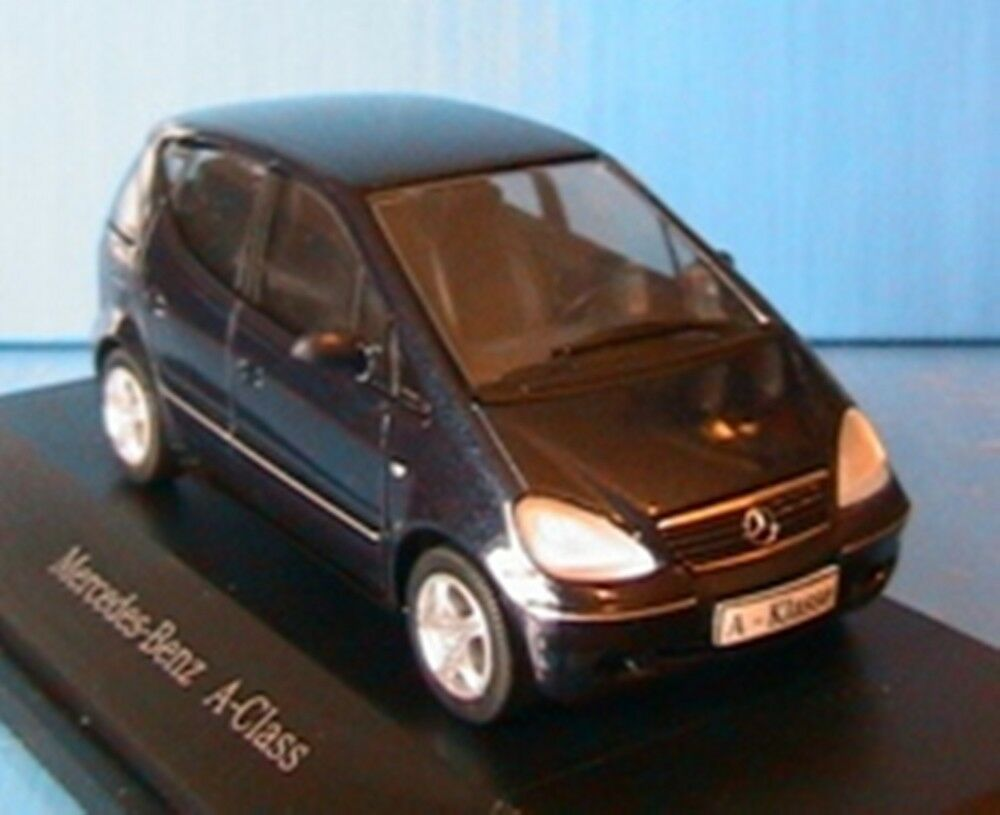 MERCEDES BENZ A KLASSE 1999 DARK blueE METALLIC HERPA 1 43 DIE CAST METAL