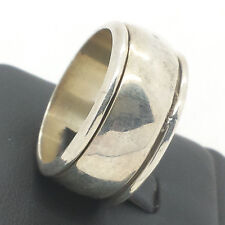 Domed Simple Spinner Mens Band Sterling Silver 925 Ring 16g Sz.12 X008