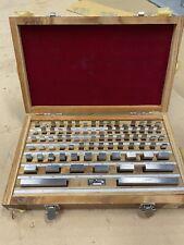Used Machinist 81 Piece Grade B Rectangular Gage Block Set Nist Certified Withbox