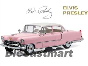 1955-Cadillac-Fleetwood-de-Color-Rosa-Serie-60-034-Elvis-Presley-034-1-18-Greenlight-12950