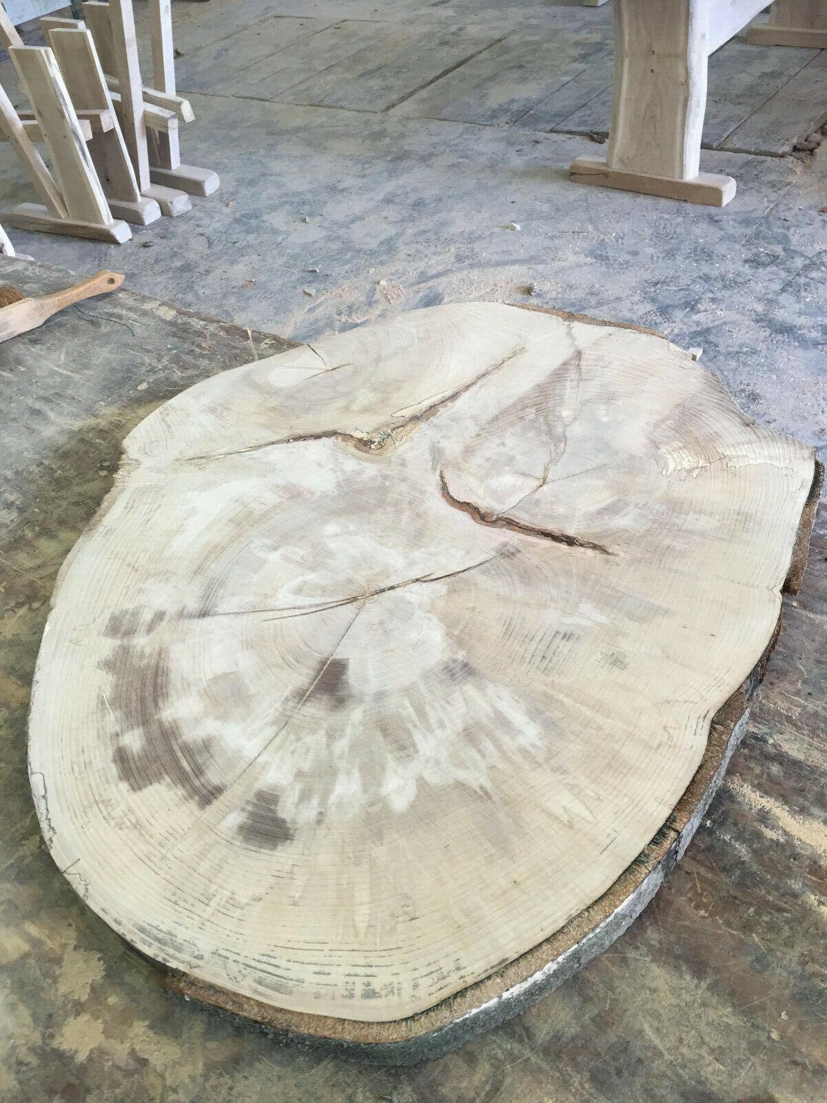 Baumscheibe Holzscheibe Holzscheibe Holzscheibe Tischplatte ca. 80x 60 x5 cm Buche f08a36