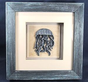 Jelly Fish Shadow Box Nautical Sea Life Wall Art Home Decor