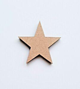 Laserschnitt-Rustikal-Holz-MDF-Stars-40mm-an-100mm-Nordisch-Craft-Christmas