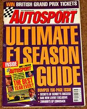 Autosport 25/2/99* 1999 F1 SEASON GUIDE - ZANARDI RETURNS - BTCC HONDA ACCORD