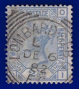 1881-SG157-2-d-Blue-Plate-22-J24-OI-VFU-Lombard-St-Sqd-Circ-DE-6-82-CV-45-aebj