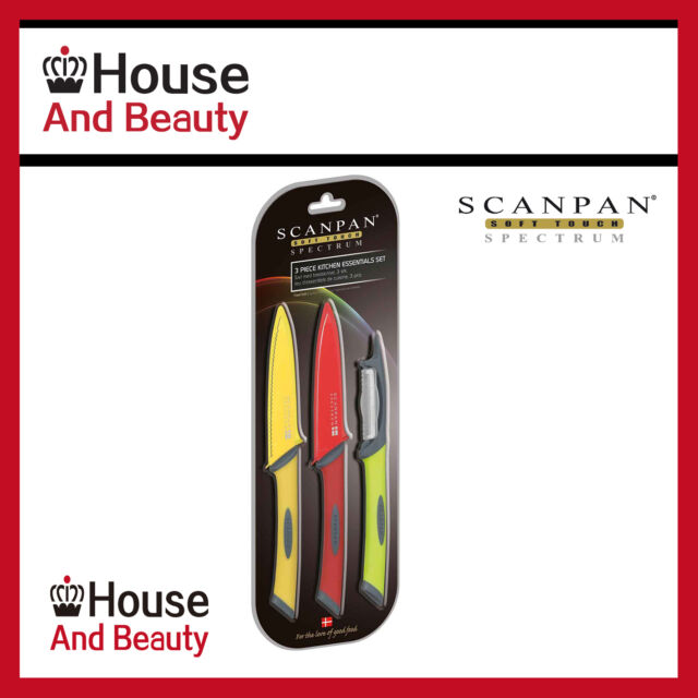 NEW Scanpan Multi-Coloured Kitchen Essential 3 Piece Set! RRP $29.95!
