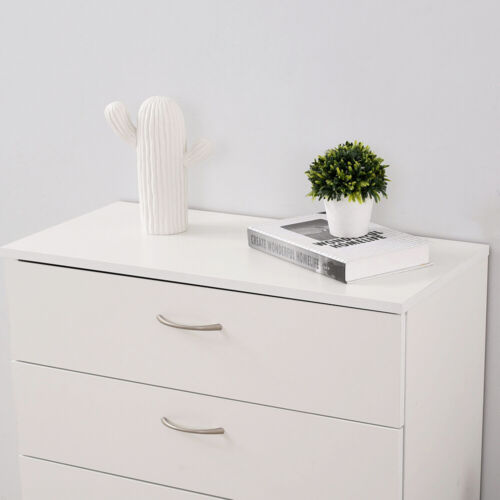 Modern 4 Drawers Bedside Table Cabinet Chest of Drawers Nightstand Bedroom Shelf