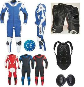Mini-Motorbike-Kids-Leather-Textile-Suit-KIT-Glove-Back-BIESSE-Age-4-To-16-Years