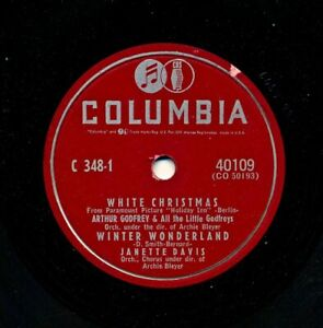 ARTHUR-GODFREY-and-Friends-on-1953-Columbia-40109-White-Christmas-Three-More