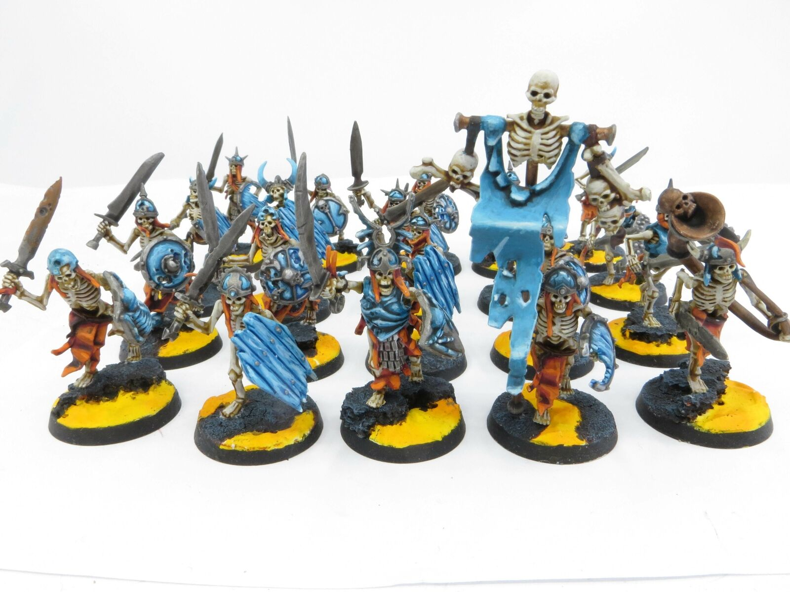 SKELETON WARRIORS x 20 Well Painted Warhammer AOS Legions Of Nagash Undead Lot2f