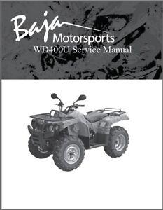 Baja Wilderness Trail 400 ( WD400-U ) Service Repair Manual on a CD  --  WD400U