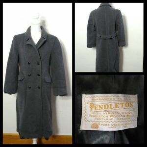 best website ea9bf e3613 Details zu Pendleton Trenchcoat Damen M Grau Wolle Zweireihig Inv #S8746