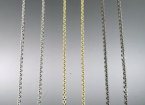 45cm Cable CHAIN Necklaces GOLD SILVER GREY METALLIC Quality 1.2mm Thin Fine
