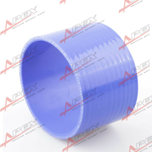 "3 capas de 1/"" Pulgadas Manguera De Silicona Acoplador 70 mm Turbo Recto Tubo Azul"