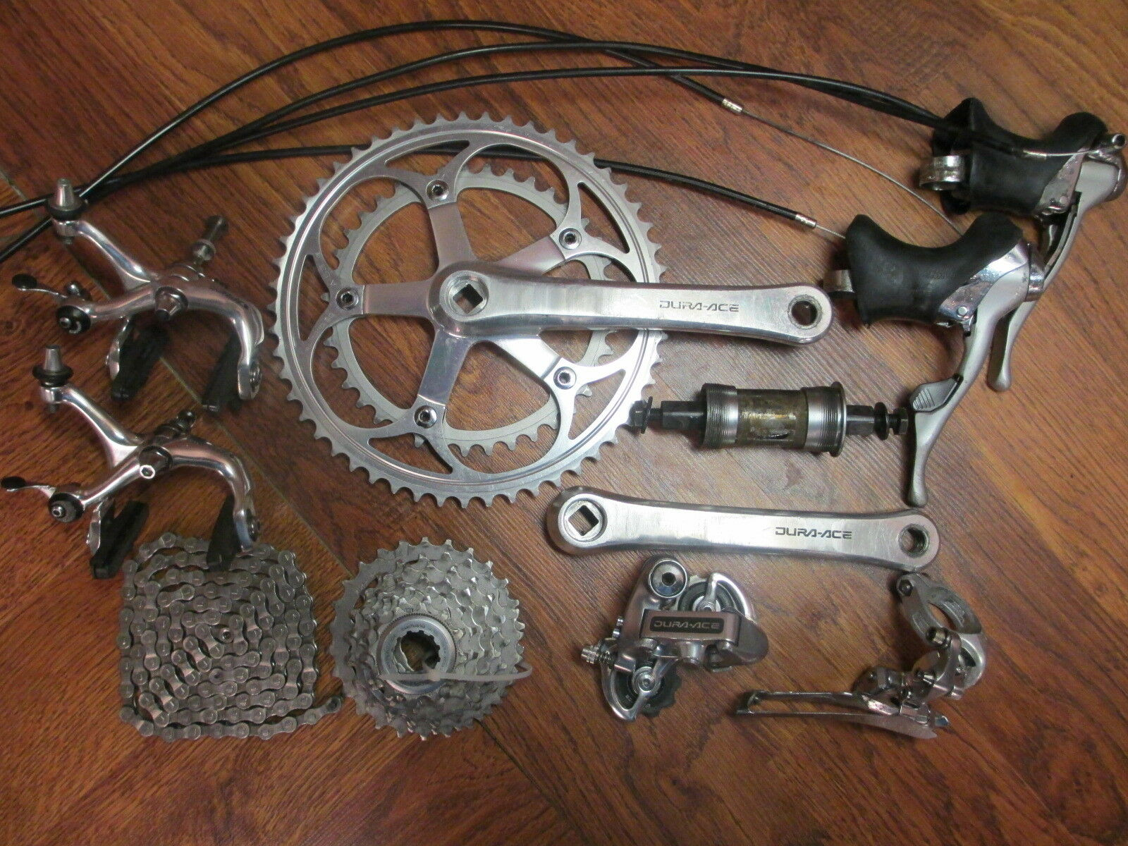 VINTAGE SHIMANO DURA ACE  7402 GROUP GROUPPO COMPLETE BUILD KIT 8 SPEED DOUBLE  for your style of play at the cheapest prices