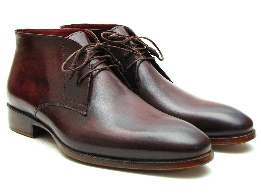 Paul Parkman Men's Chukka Boots Brown & Bordeaux (ID CK43E8)