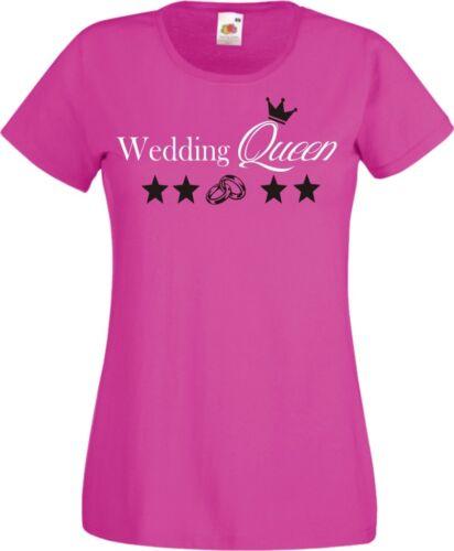 Jga Shirt süß Wedding Queen Jury Damen TShirt Jungesellinenabschied Hochzeit