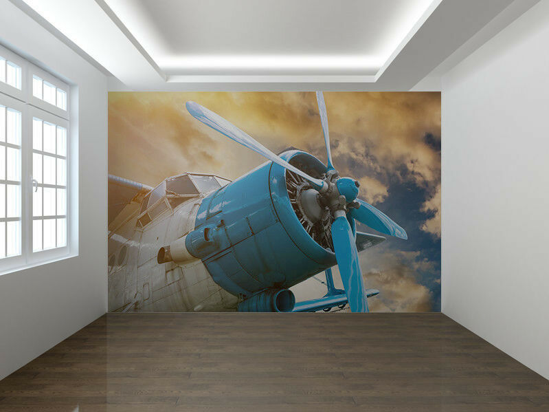 Plane with propeller photo Wallpaper wall mural (76477212)
