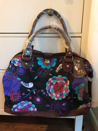 Women Girls Retro Floral Print Canvas Shopping Handbag Shoulder Tote Shopper Bag