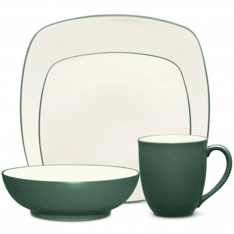 Noritake Couleurwave Spruce Square 32Pc Dinnerware Set, service pour 8