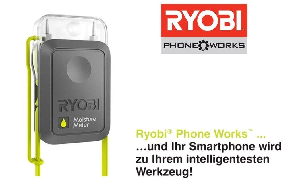 Ryobi Phone Works Feuchtigkeitsmesser RPW-3000 inkl. Halterung für Smartphone