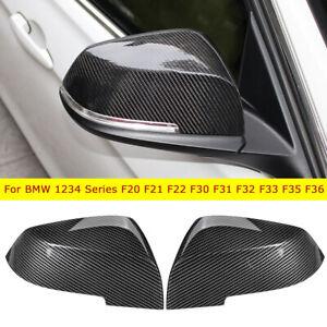 Replacement Mirror Cover Cap Carbon Fiber Fit BMW F20 F22 F30 F32 F33 F36 E84