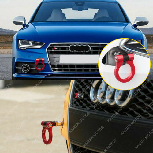 Track Racing Style Aluminum Tow Hook Ring Fit For Audi A4 A5 A7 B8 RS7 S4 S5