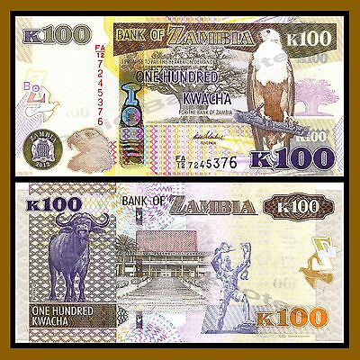 Zambia 50 /& 100 Kwacha Fish Eagle Uncirculated Banknotes Set # 5
