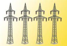 Kibri Bausatz Nr. 38533 H0 Deko-Set Strommasten, 4 Stück
