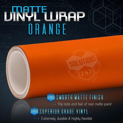 "60/""x60/"" Matte Flat Orange Vinyl Film Wrap Sticker Decal Bubble Free Air Release"