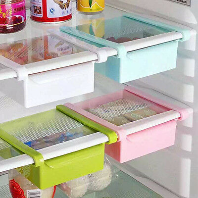 Home Kitchen Fridge Qrganiser Save Space Storage Slide Rack Kitchen Storage