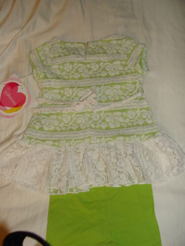 NWT Youngland Girls 2T 3T Two Piece Lace Dress Over Knit Legging Outfit Set PICS