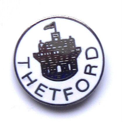 THETFORD ENAMEL LAPEL PIN BADGE FREE POSTAGE WITHIN THE UK