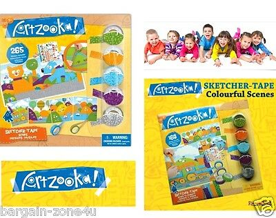 Artzooka Sketcher Tape Kids Craft Activity Stickers Stationery Darawing Painting