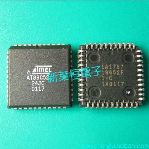 AT89C52-24JU PLCC44 ATMEL Flash IC with 8-bit MCU