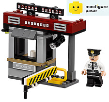sh331 The Lego Batman Movie 70910 - Security Guard Minifigure & Guard House New