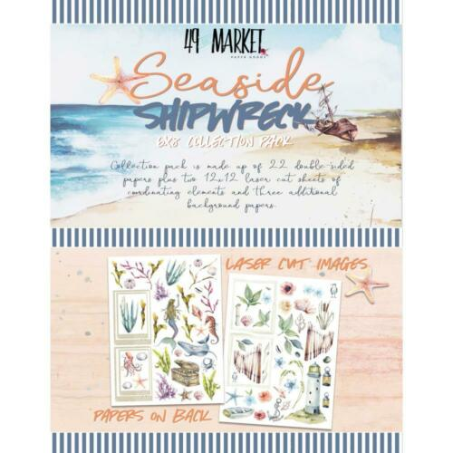"""49 And Market /'SEASIDE /& SHIPWRECK/' 6x8/"""" Collection Pack Beach//Coastal//Holiday"""