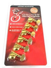 Grover 406G6 6 In-Line Gold Self Lock Tuning Machine Heads Fender Locking Tuners