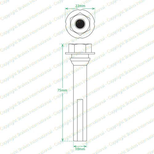 Front brake caliper Slider PIN Guide Kit Simple Piston Fit Peugeot 607 BCF1339VV
