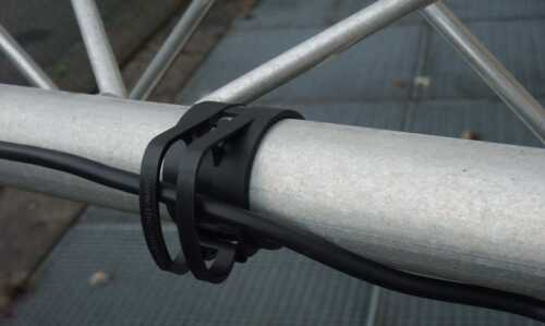 5 x SNAP light Schwarz Kabel Halter Schellen für Truss Rohr Befestigungs Klammer