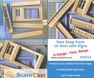 O Gauge Model Railway Shop Front And Signs Mould - O Scale - Ogd14 Lh Door Surface LustréE