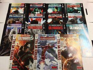 Die-Ultimates-1-2-3-4-5-6-7-8-9-10-11-12-13-14-15-Comicbuch-Set-Marvel-2011
